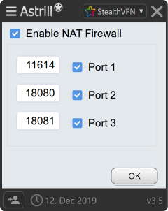 VPN for Port forward