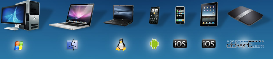 Mac, Windows, Linux, Android, iPhone, iPad, DD-WRT